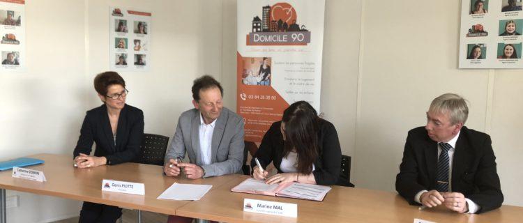 Le 1er Contrat Aidé «nouvelle génération» signé chez Domicile 90 !