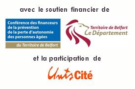 logos de nos partenaires : CD90 et Unis Cité