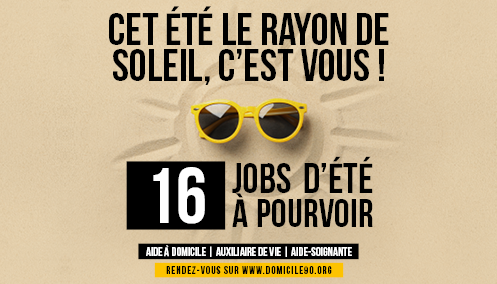 16 JOBS D'ETE A POURVOIR !